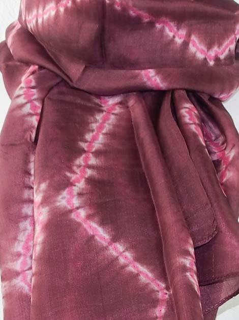 Foulard en soie naturelle tissé à la main - artisanat cadeau équitable du Cambodge - code 305108-f2