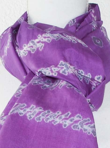 Foulard en soie naturelle tissé à la main - artisanat cadeau équitable du Cambodge - code 305110-f1