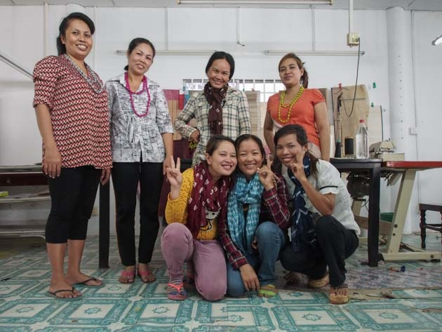Artisanes du commerce équitable Frangipanier villages du Cambodge