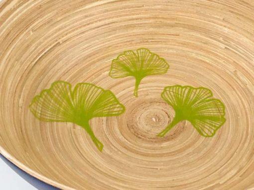Plat en bambou artisanat des villages du Vietnam - commerce équitable - code 401916-f3
