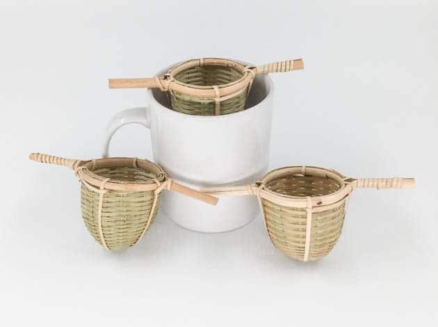 Passoie en bambou naturelle et écologique - artisanat cadeau équitable du Laos - code 2011724