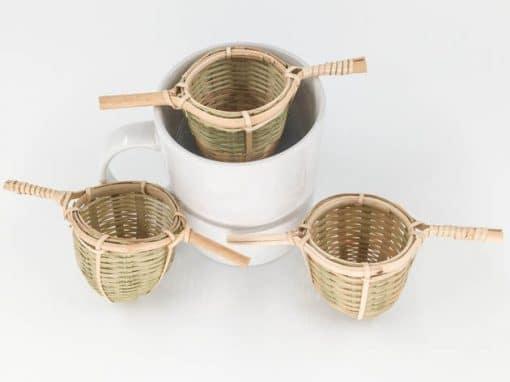 Passoie en bambou naturelle et écologique - artisanat cadeau équitable du Laos - code 2011724b