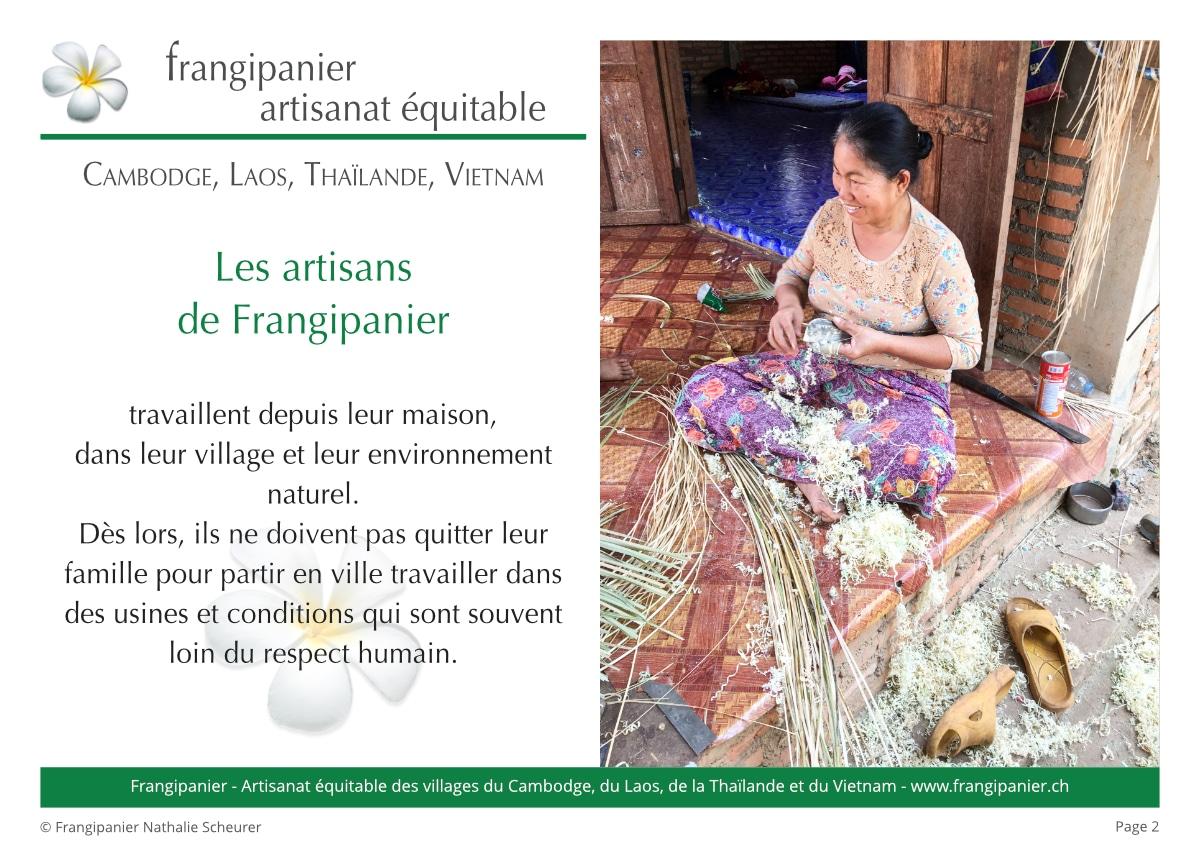 Frangipanier album philosophie du commerce équitable - artisanat des villages - p2