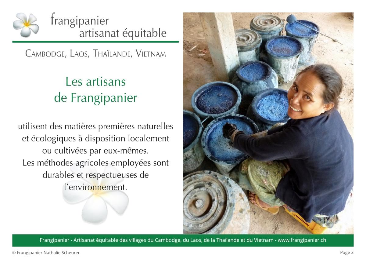 Frangipanier album philosophie du commerce équitable - artisanat des villages - p3