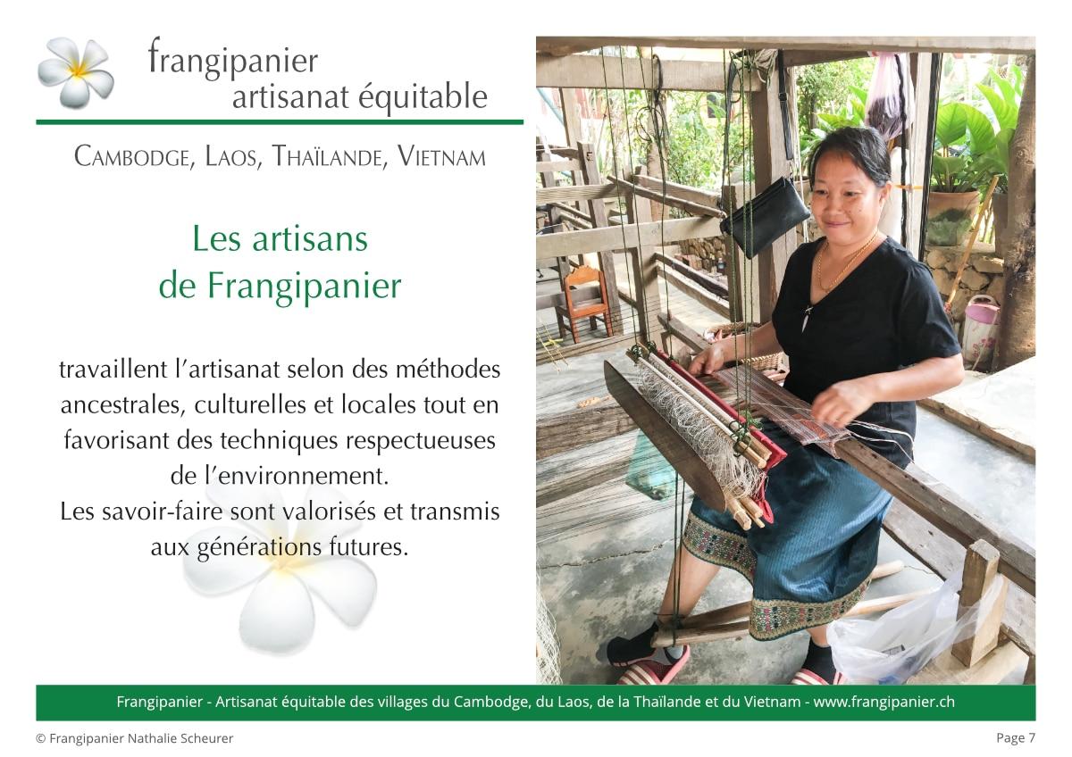 Frangipanier album philosophie du commerce équitable - artisanat des villages - p7