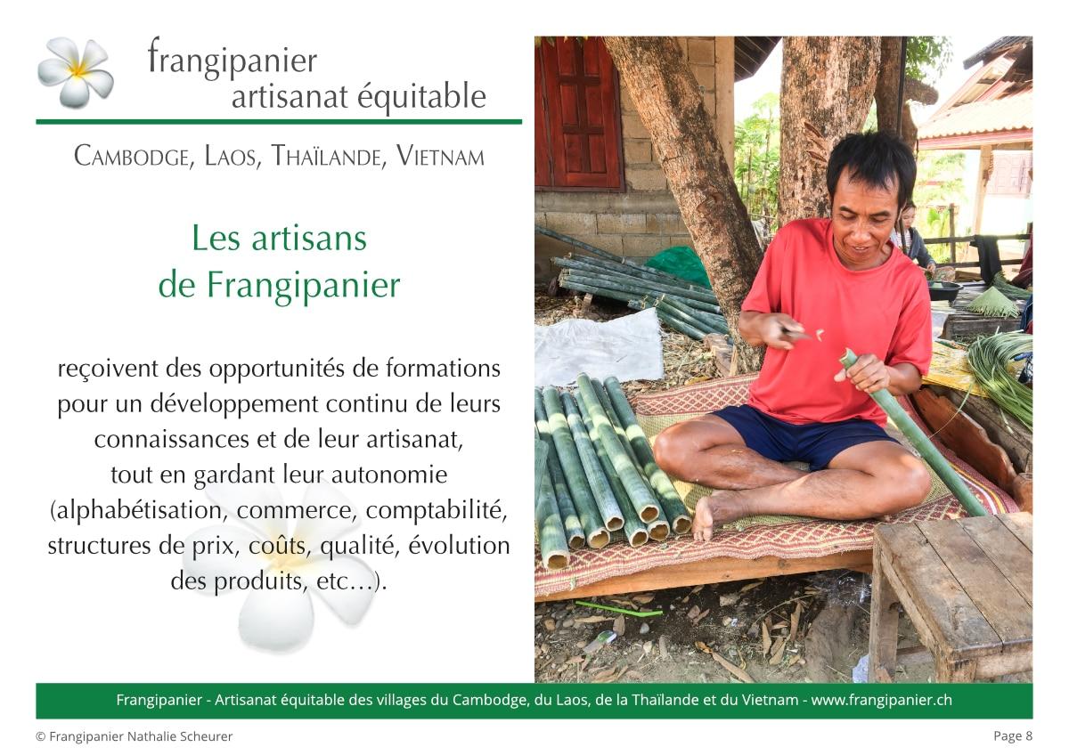 Frangipanier album philosophie du commerce équitable - artisanat des villages - p8