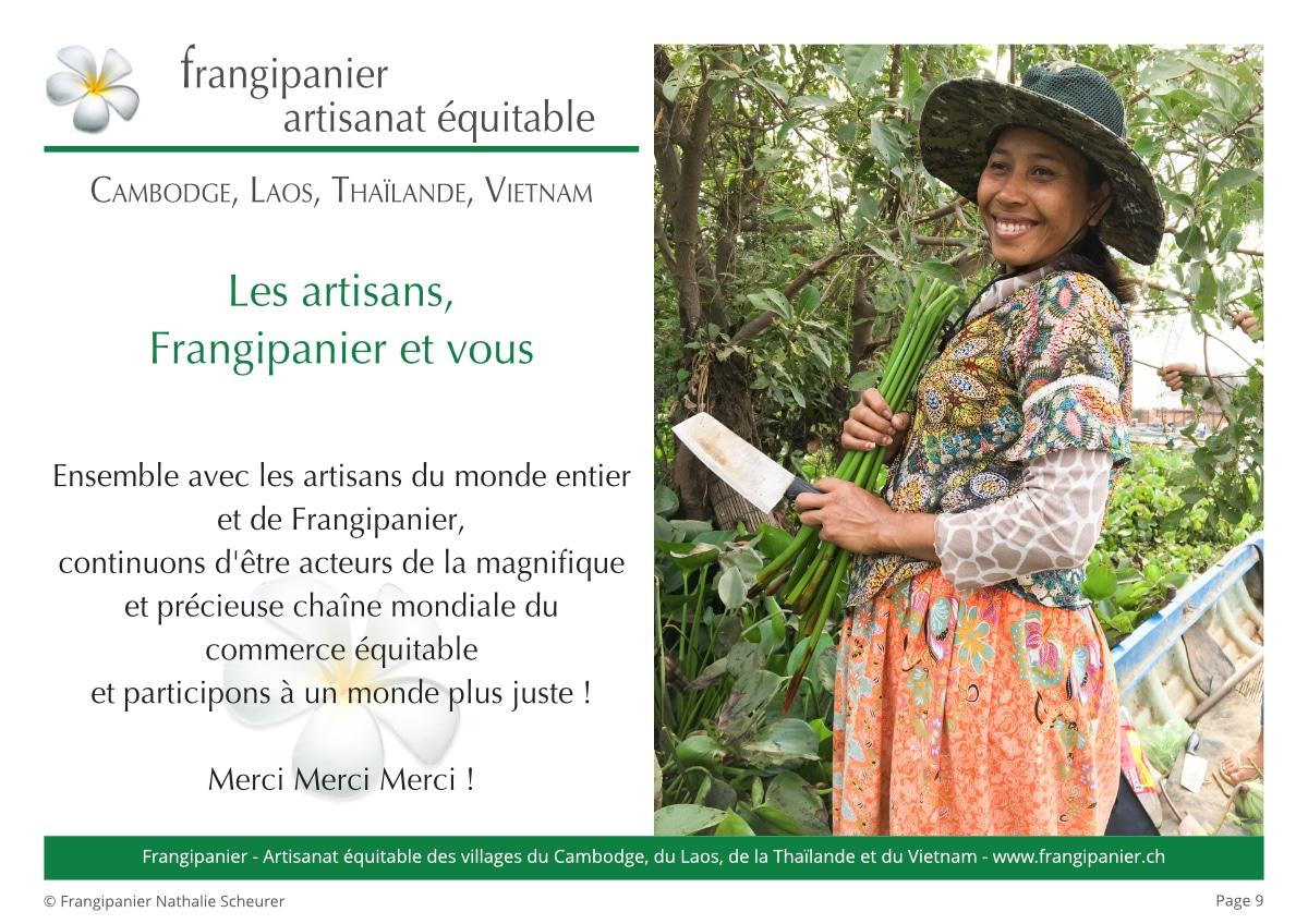 Frangipanier album philosophie du commerce équitable - artisanat des villages - p9